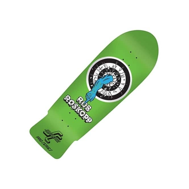 Santa Cruz Skateboards Rob Roskopp Target 1 Reissue Fluorescent Green Skateboard Deck 10.0