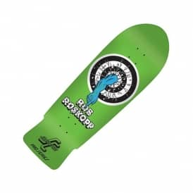 Santa Cruz Skateboards Rob Roskopp Target 1 Reissue Fluorescent Green Skateboard Deck 10.0""