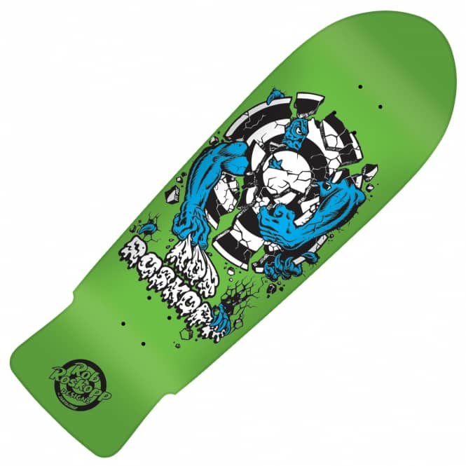 Santa Cruz Skateboards Rob Roskopp Target 3 Green Reissue Skateboard Deck 10.25