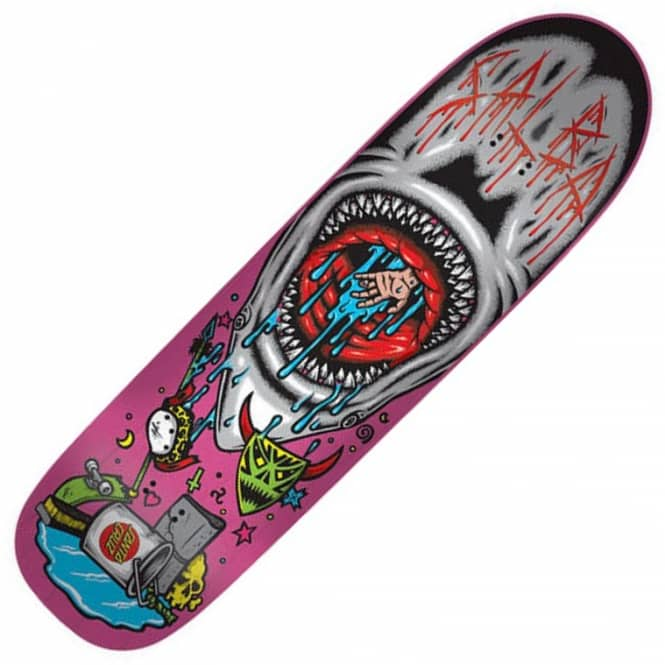 Santa Cruz Skateboards Salba Pool Shark Pro Skateboard Deck 8.9