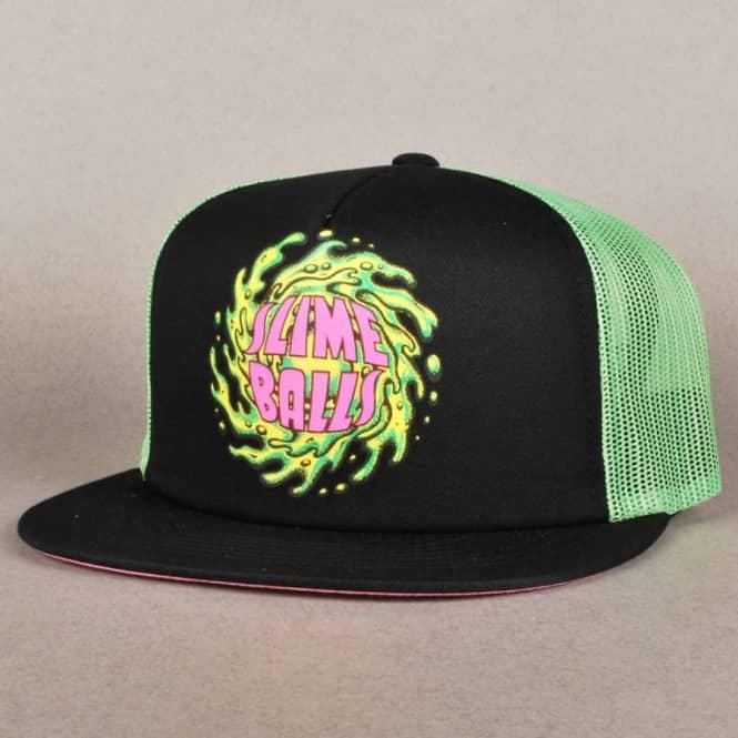 19a0b9c230b Santa Cruz Skateboards Santa Cruz Slime Balls Mesh cap - Black Green ...