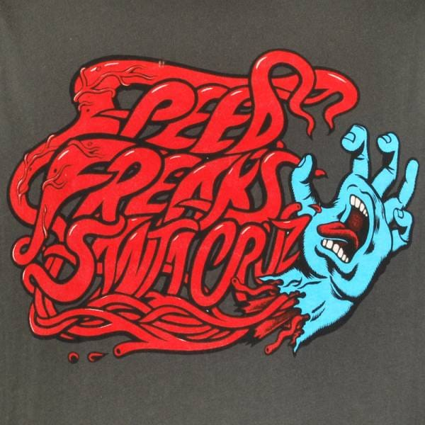 Santa Cruz Skateboards Santa Cruz Speed Freaks Skate T Shirt Vintage Black