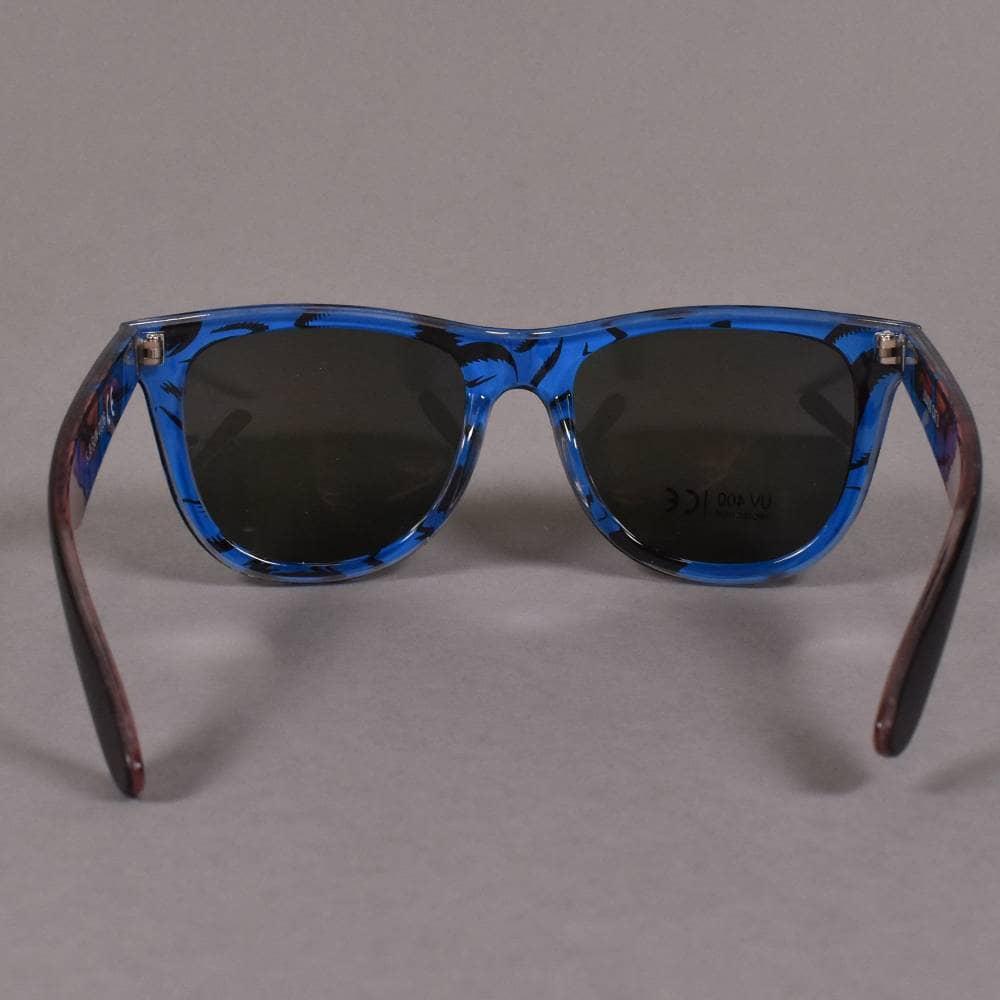 3ccb93ccd1ac Santa Cruz Skateboards Screaming Insider Sunglasses - Black/Blue ...