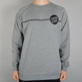 Santa Cruz Skateboards SCS Dot Crewneck Sweater - Grey Heather