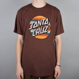 Santa Cruz Skateboards Serape Dot Skate T-Shirt - Mahogany