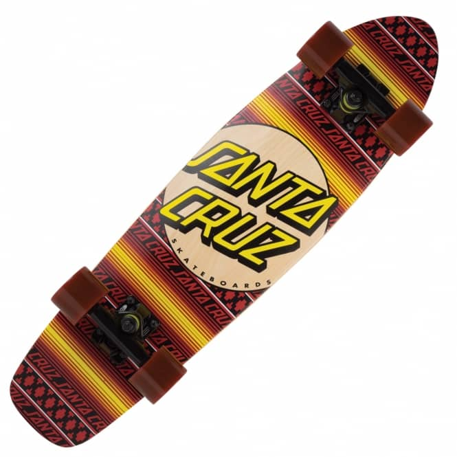 Santa Cruz Skateboards Serape Jammer Cruiser Skateboard 7.0