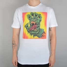 Santa Cruz Skateboards Skinner Hand Skate T-Shirt - White