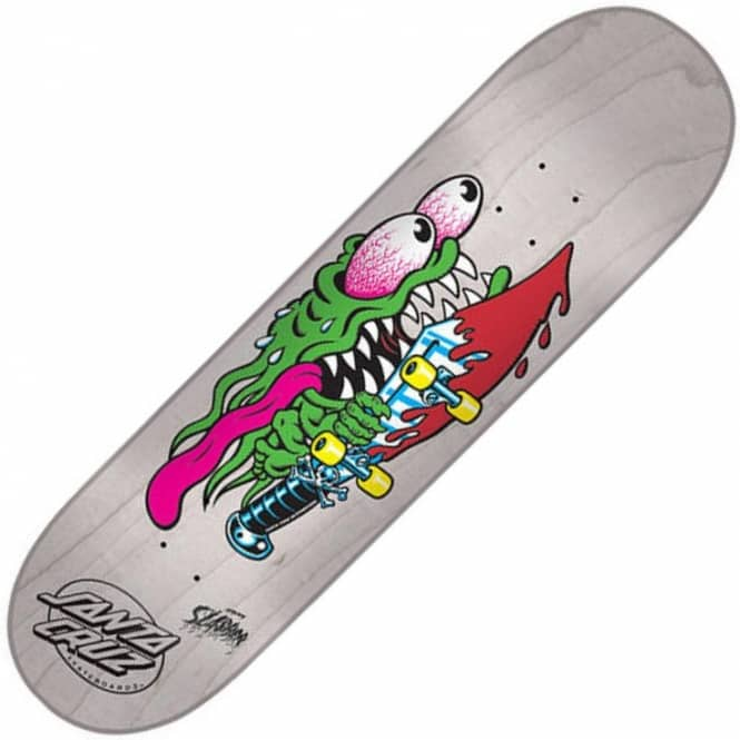 Santa Cruz Skateboards Slasher Eight White Stain Skateboard Deck 8.0