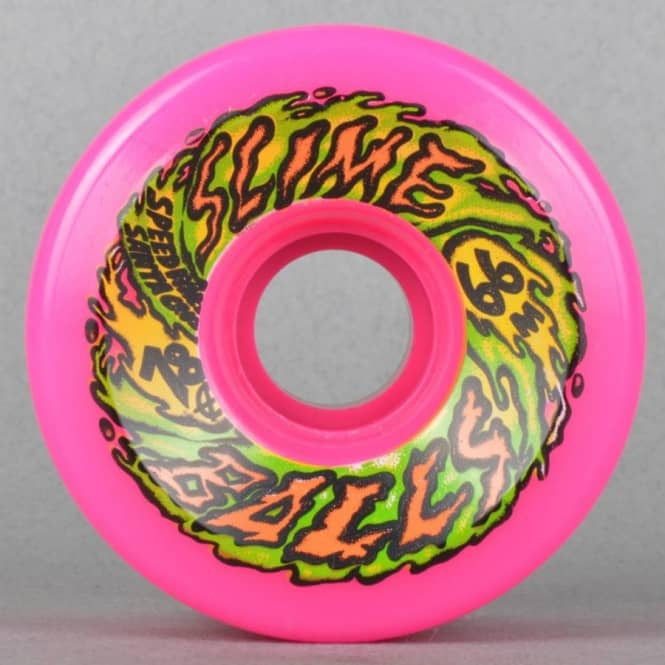 Santa Cruz Skateboards Slime Balls Pink 78A Skateboard Wheels 66mm