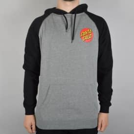 Small Dot Pullover Hoodie - Black/Dark Heather