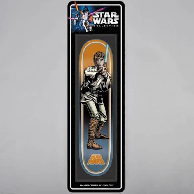 Santa Cruz Skateboards Star Wars Luke Skywalker Blister Pack Skateboard Deck 7.8