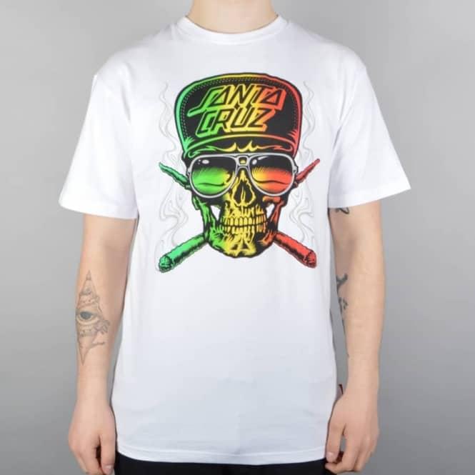 f8dfdd2983de Santa Cruz Skateboards Stoner Skull Skate T-Shirt - White - SKATE ...