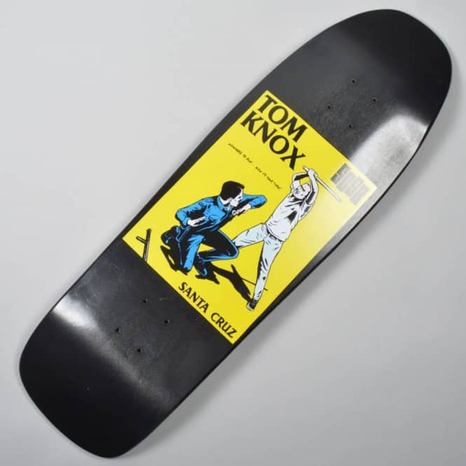 ad8f52fbe5f9 Santa Cruz Skateboards Tom Knox Black Cop Beater Reissue Skateboard ...