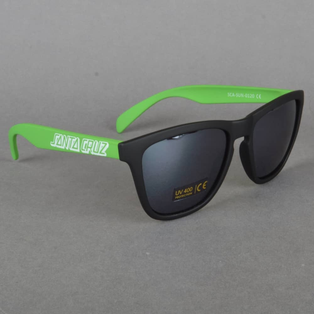 Santa Cruz Volley Sunglasses - Black / Lime ClcZc