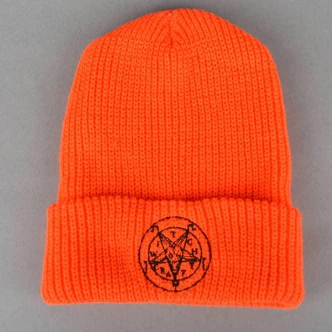 53bf013216e9f Witchcraft Hardware Satan Halloween Beanie - Orange Black - SKATE ...