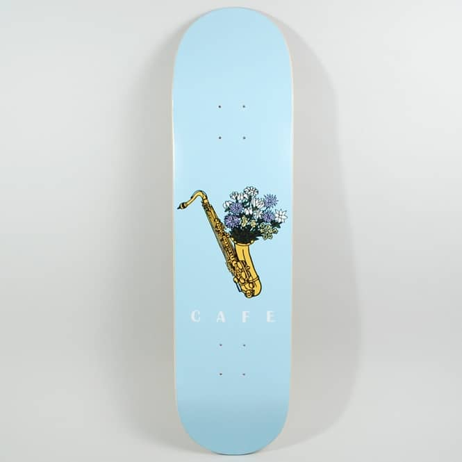 Skateboard Cafe Sax Flowers Skateboard Deck 8.0