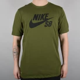 SB Logo Skate T-Shirt - Legion Green/Black