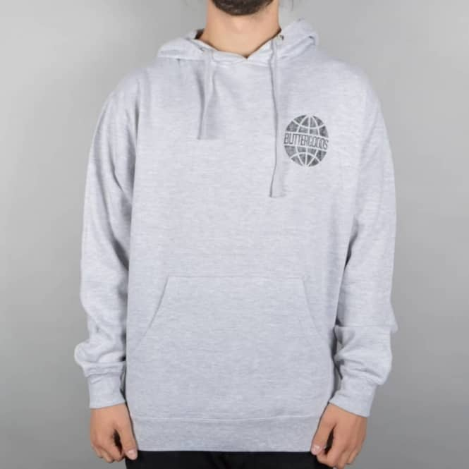 Butter Goods Scale Worldwide Pullover Hoodie - Heather Grey