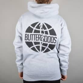 Scan Worldwide Logo Pullover Hoodie - Heather Grey