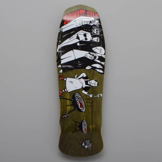Schmitt Stix Joe Lopes BBQ (Modern Concave Brown Stain) Reissue Skateboard Deck 9.75