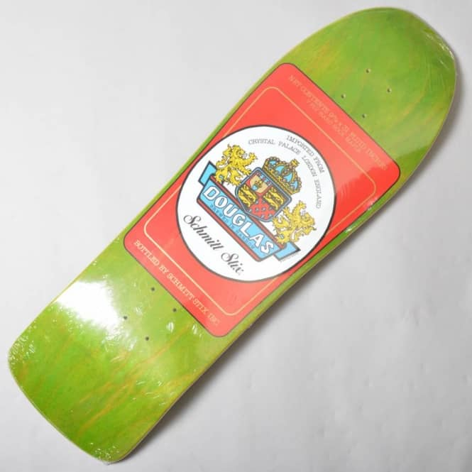 Schmitt Stix Steve Douglas Beer Label Green/Red Reissue Skateboard Deck 9.9