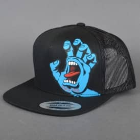 Santa Cruz Skateboards Screaming Hand Youth Mesh Cap - Black