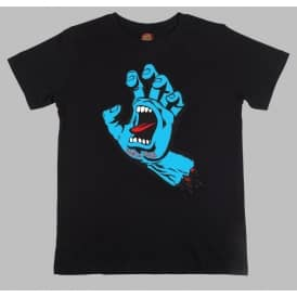 Santa Cruz Skateboards Screaming Hand Youth T-Shirt - Black