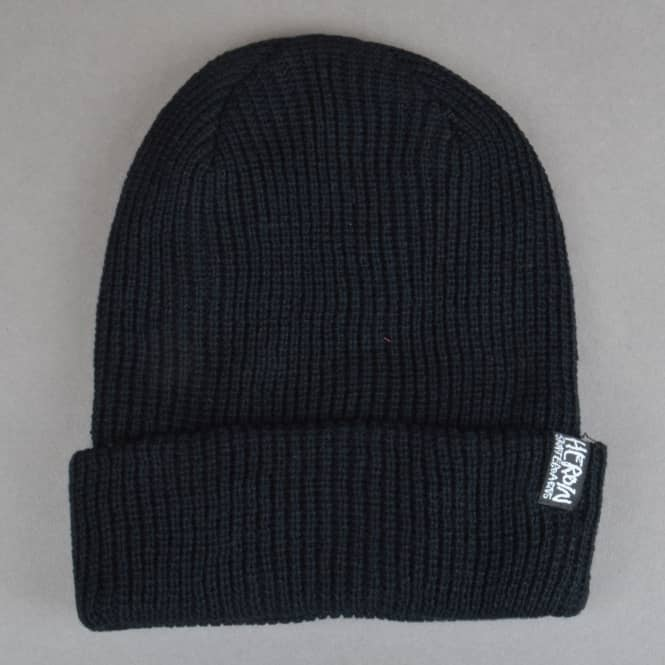 Heroin Skateboards Script Beanie - Black