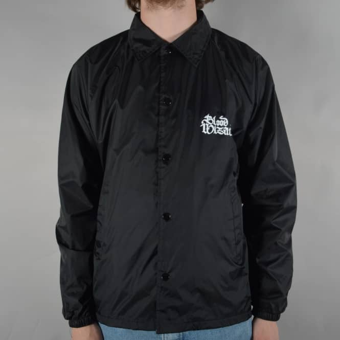 Blood Wizard Script Coach Jacket - Black