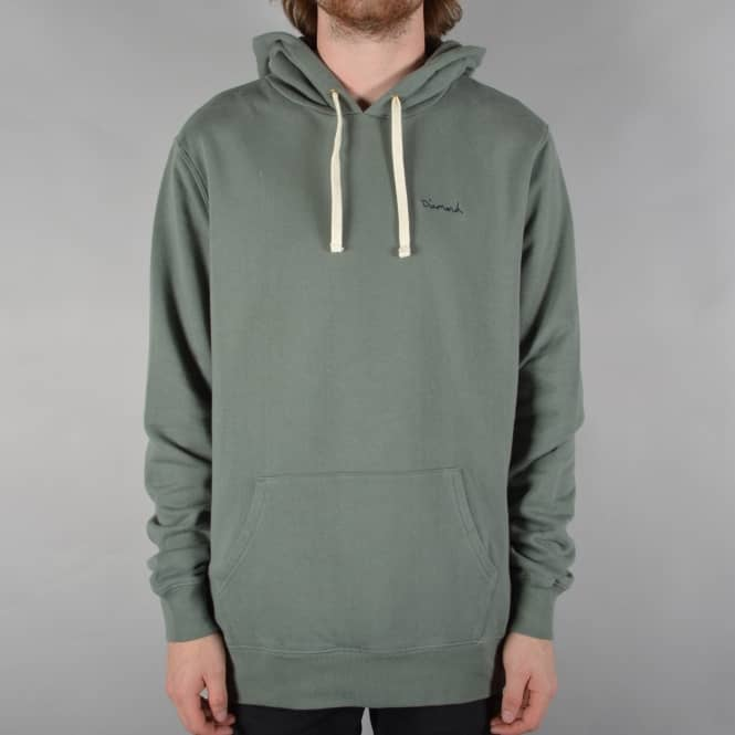 Diamond Supply Co. Script Pullover Hood - Green