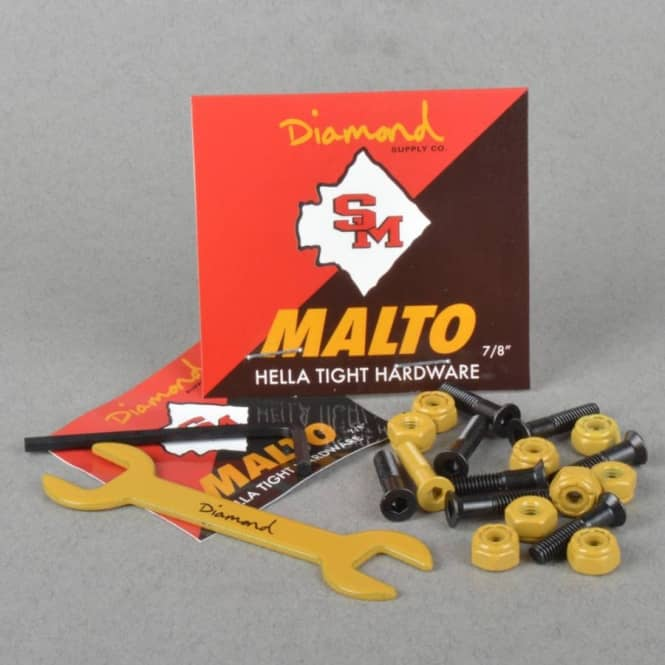 Diamond Supply Co. Sean Malto Hella Tight Hardware Skateboard Truck Bolts 0.78
