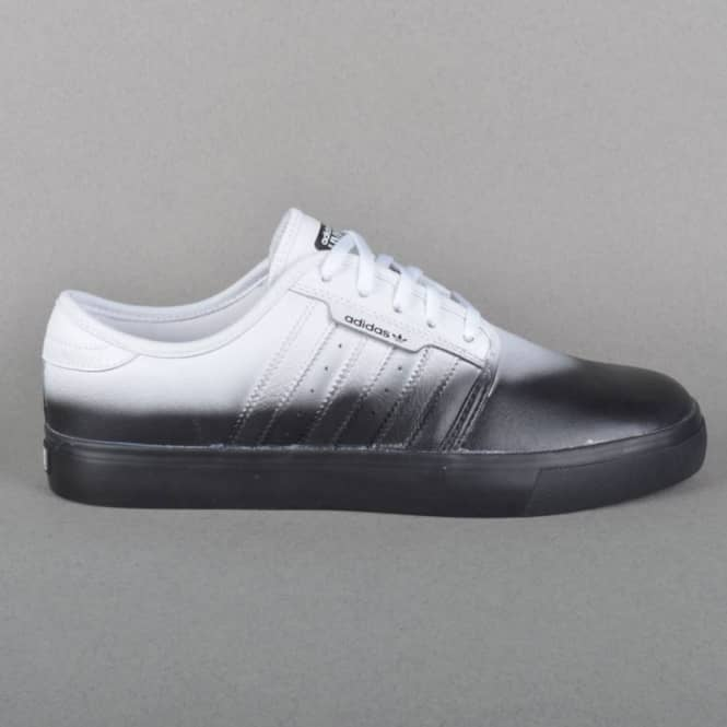 Adidas Skateboarding Seeley Skate Shoes HVW8 - Ftwr White/Ftwr White/Core Black