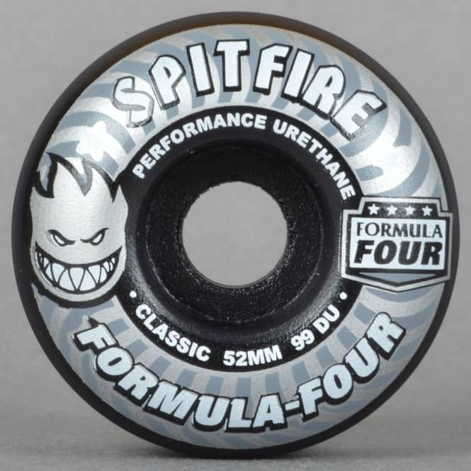 Spitfire Wheels Shadowplay 99D Classic Black Formula Four Skateboard Wheels 52mm