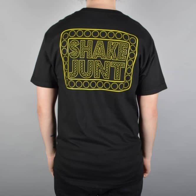 Shake Junt Box Logo Team Skate T-Shirt - Black