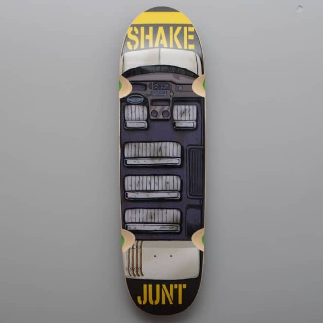 Shake Junt Stickerama Cruiser Skateboard Deck 8.75