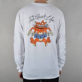 Shakey Cat Longsleeve T-Shirt - White