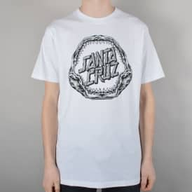Santa Cruz Skateboards Shark Dot Skate T-Shirt - White