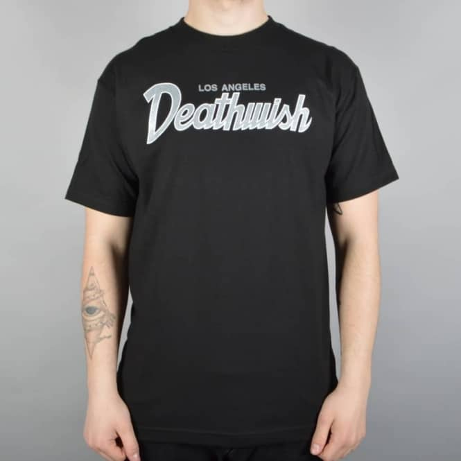 Deathwish Skateboards Shield Skate T-Shirt Black/Silver