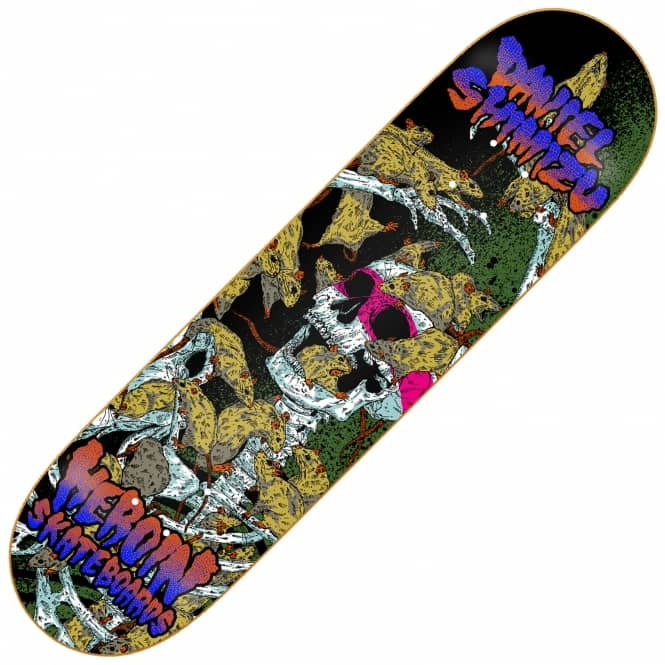 Heroin Skateboards Shimizu Hirotton Vicious Nature Skateboard Deck 8.125
