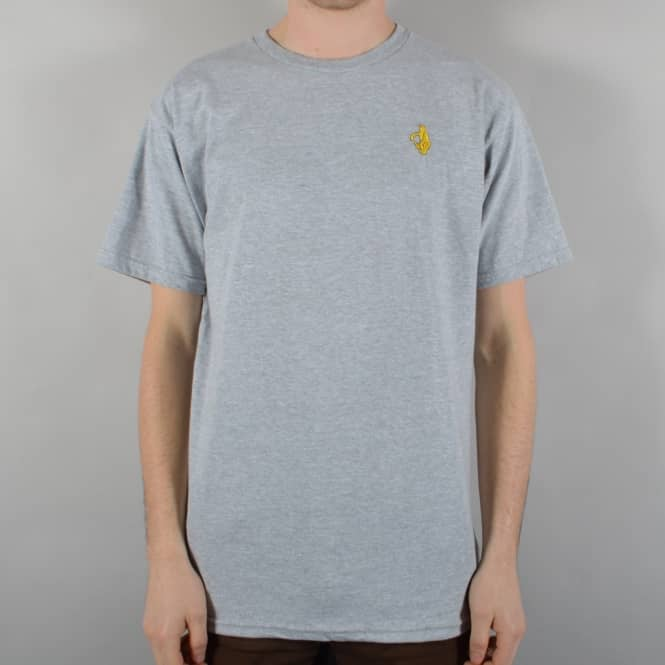 Krooked Skateboards Shmolo Embroidered Skate T-Shirt - Heather Grey