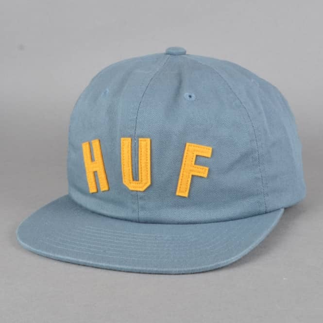 HUF Short Stop 6 Panel Cap - Greyish Blue