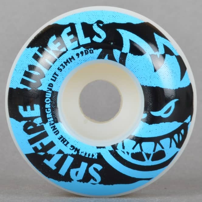 Spitfire Wheels Shredded Blue 99D Skateboard Wheels 53mm