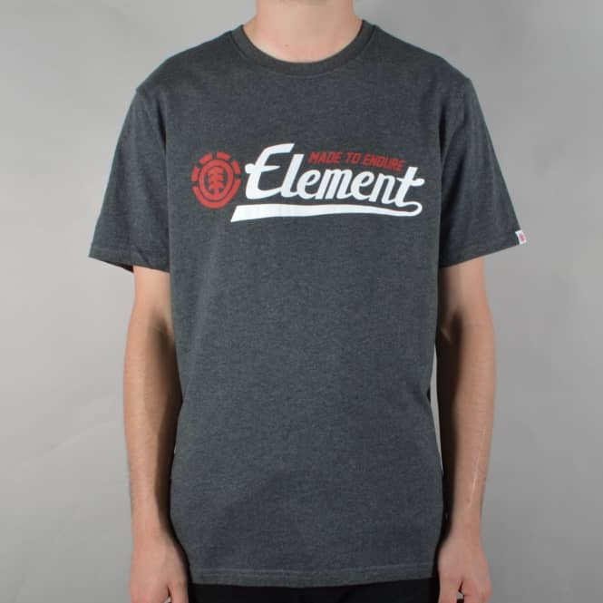 Element Skateboards Signature Skate T-Shirt - Charcoal Heather