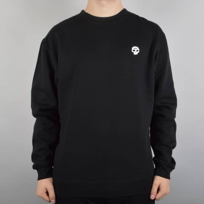 Zero Skateboards Single Skull Crewneck Sweater - Black