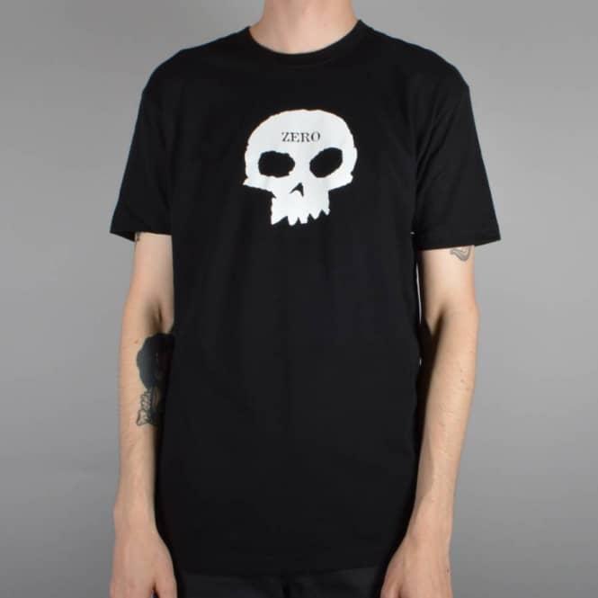 2611e93d4df5 Zero Skateboards Single Skull Skate T-Shirt - Black - SKATE CLOTHING ...