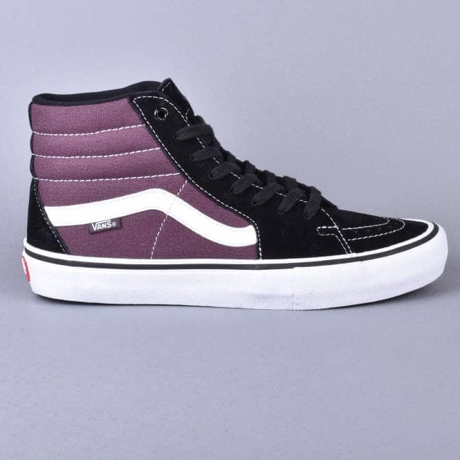 vans sk8 hi black purple - 53% remise