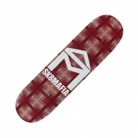 Sk8mafia House Logo Plaid Red Skateboard Deck 8.0''
