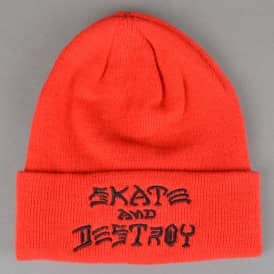 Skate And Destroy Embroidered Beanie - Red