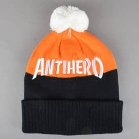Skate Co. Pom Pom Beanie - Black/Orange