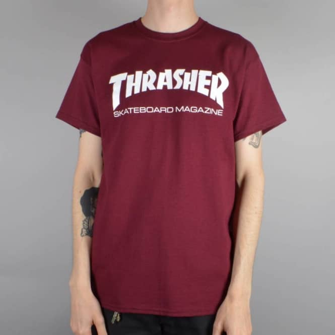 3ab71d2b852b Thrasher Skate Mag T-Shirt - Maroon - SKATE CLOTHING from Native ...